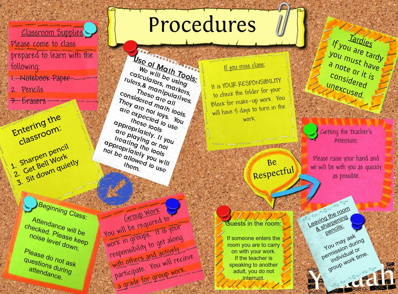 Elementary Classroom Procedures : Classroom procedures loridabbs source g