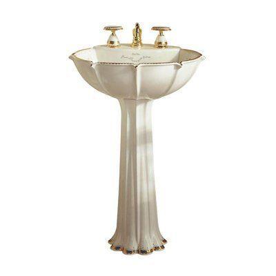 Kohler 14269 Wf 96 Prairie Flowers Design Anatole Pedestal Sink