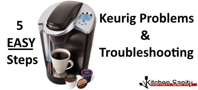 Keurig One Cup Coffee Maker Troubleshooting : Common problems and solutions for Keurig Coffee Makers at http://www.kitchensanity.com/coffee ...