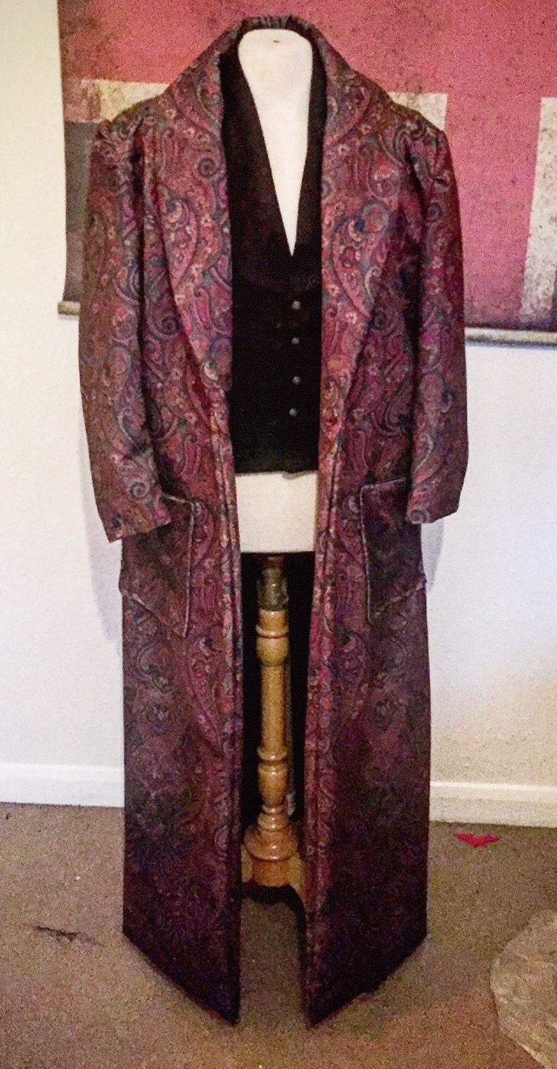 Steampunk Velvet Paisley Sherlock Holmes Victorian House coat ...