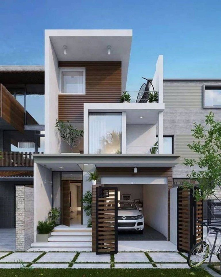Top Future House Designs Engineering Discoveries Minimal House Design Narrow House Designs Modern House Exterior
