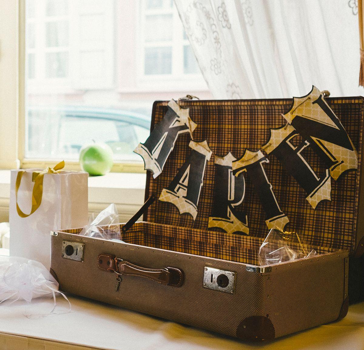 Hochzeitskarten Koffer / wedding cards case / #vintagewedding decoration inspiration