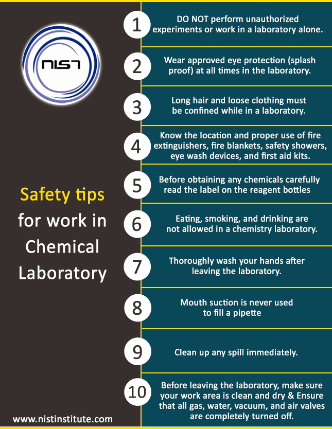 Safety tips for work in Chemical Laboratory safety_tips