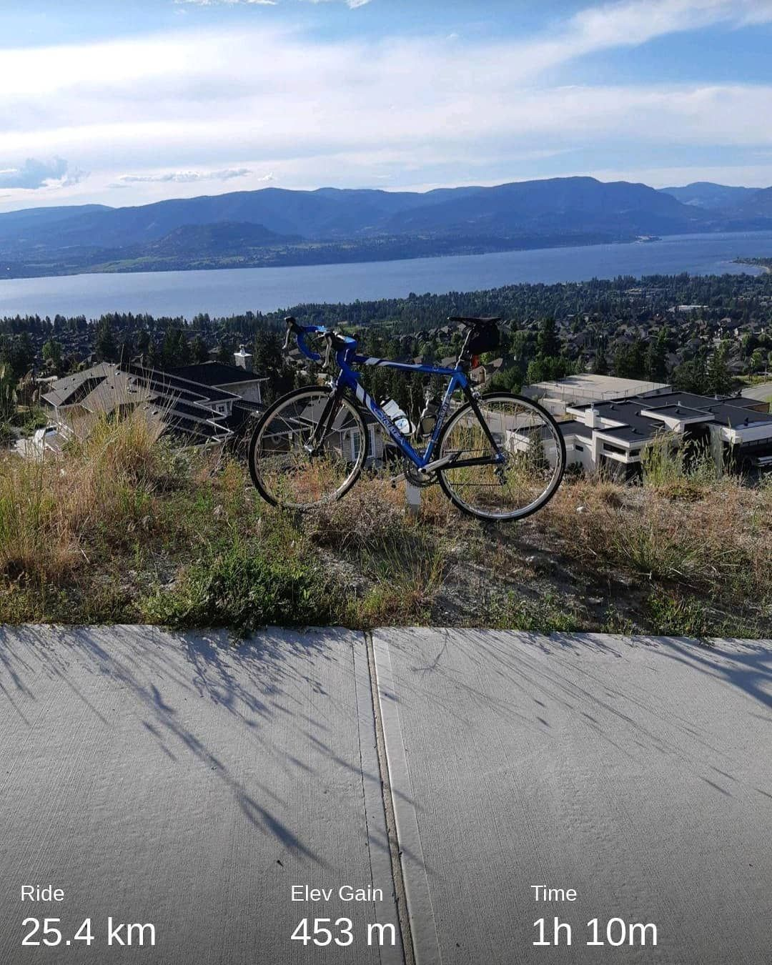 Took the scenic route to break in my new shoes and pedals    #gcninspiration     #kelowna     #cycle...