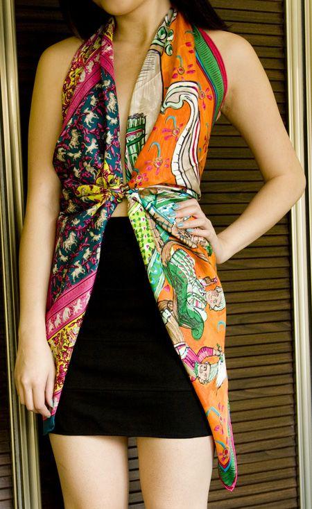 12 ways to wear your hermes scarf fashion loves pinterest gro es tuch hermes schals und. Black Bedroom Furniture Sets. Home Design Ideas