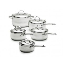 Lagostina concerto stainless steel cookware set 10 pieces - Batterie de cuisine lagostina ...