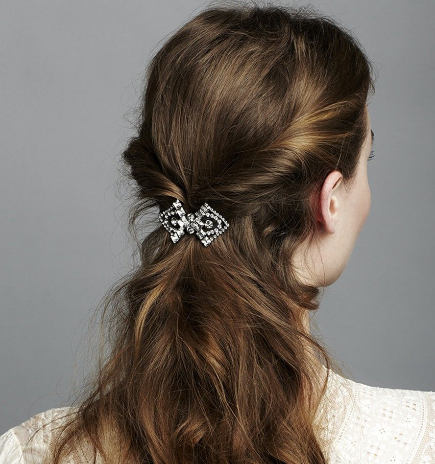 Barrette Hairstyles Captivating Geometric Crystal Barrette  Hair Is Pretty Cool  Pinterest