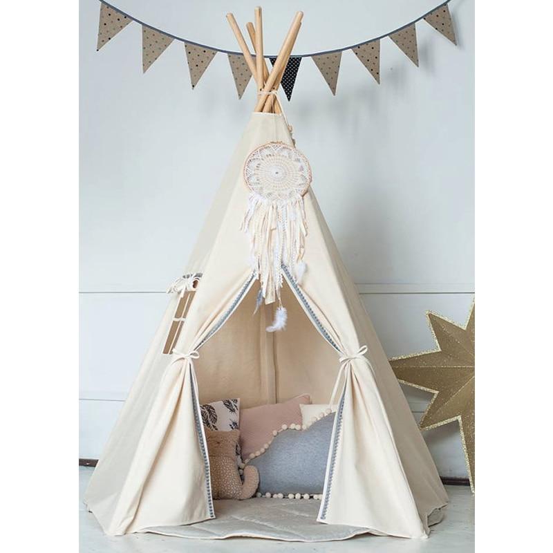 pom poms indian play tent house children tipi tee pee tent no mat in rh pinterest com