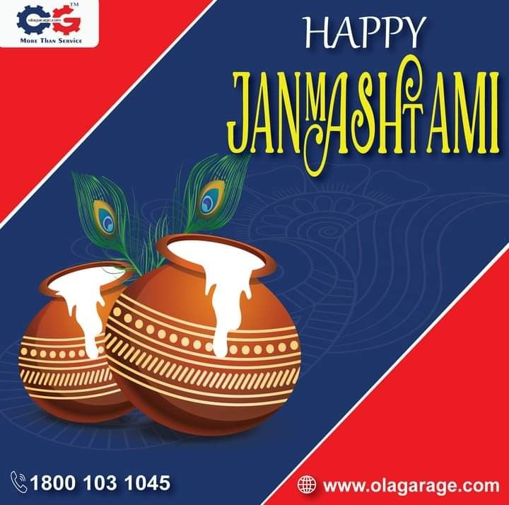 May Lord Krishna fill your home with lots of happiness and joy. Wishing everyone a very Happy Janmashtami For any car maintenance and service please call us on 1800 103 1045 or log in to www.olagarage.com #Janmasthami #LordKrishna #JaiShreeKrishna #krishnashtami #janmashtami2020 #Janmashtamispecial #Tuesday #HappyJanmashtami #olagarage #carservices #cargarage #carrepairs #garage #tuesday #postoftheday #checkitout