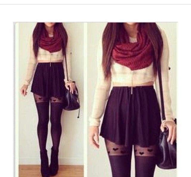 Really cute winter outfit!