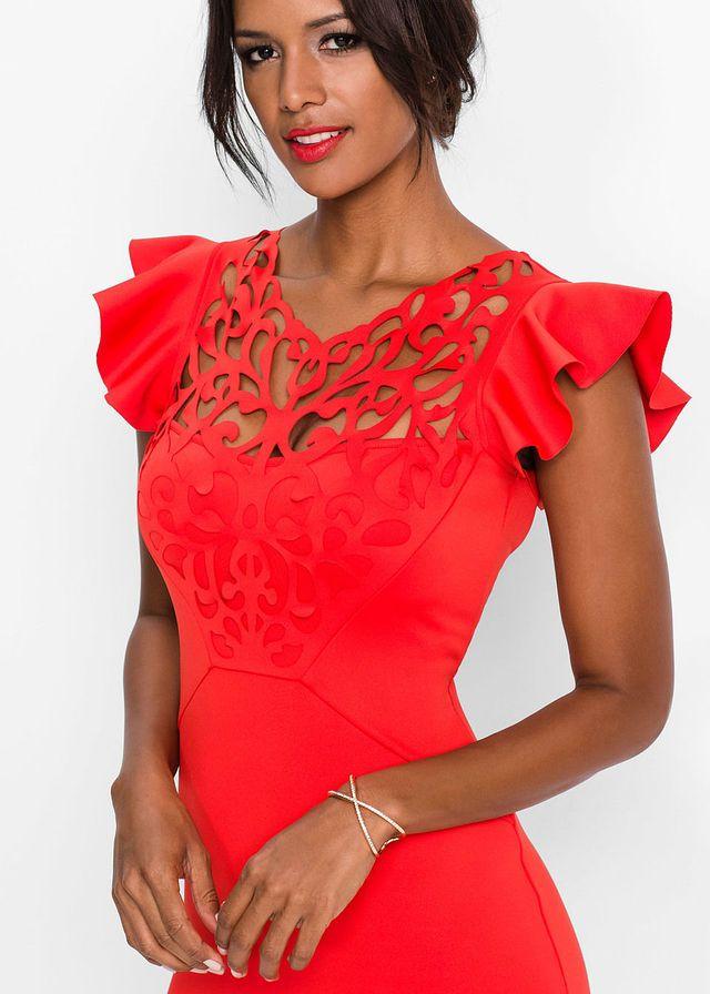 Šaty • červená • bonprix obchod  4a84c0d8453