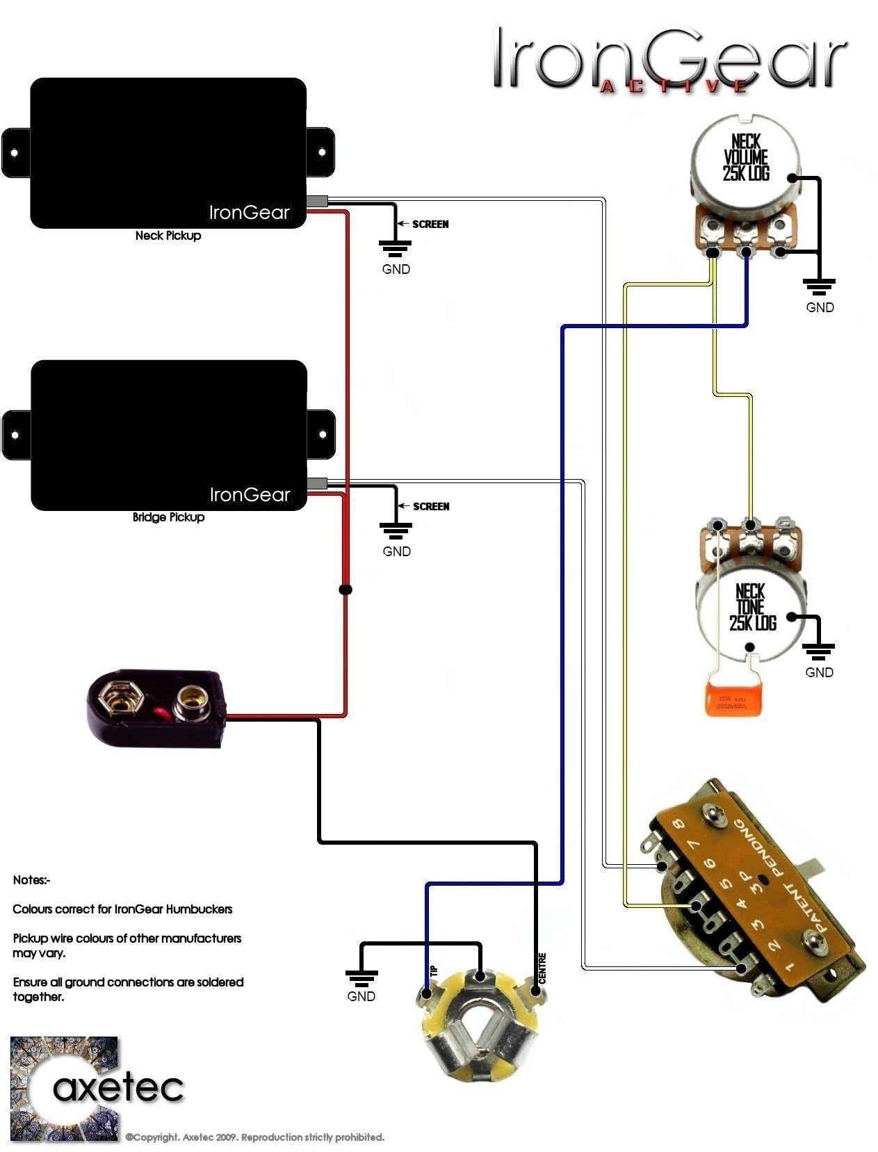 Elegant Emg Hz Pickups Wiring Diagram In 2020 Wire Diagram Chart Guitar