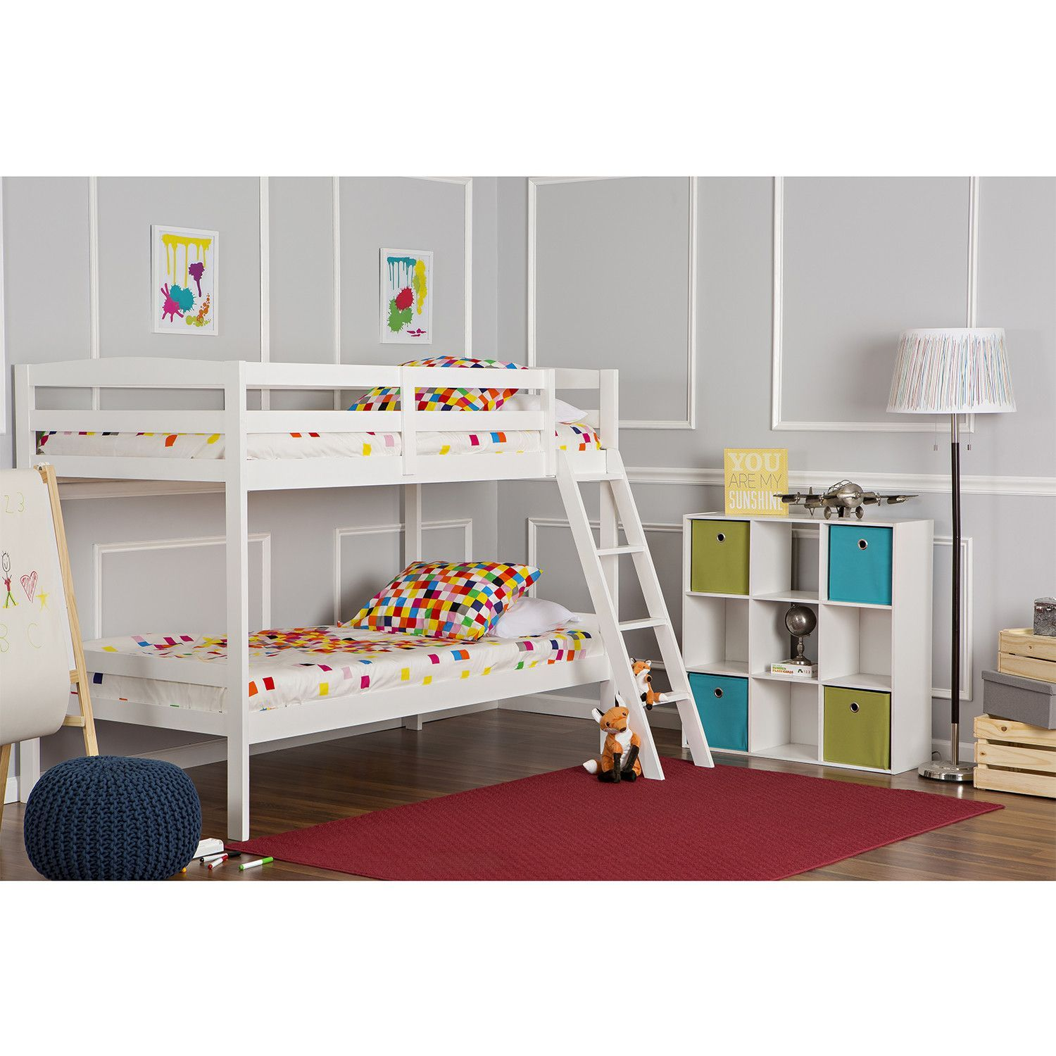 Pine loft bed with desk  Dream On Me Taylor Twin Over Twin Bunk Bed  Bunk bed Twins and
