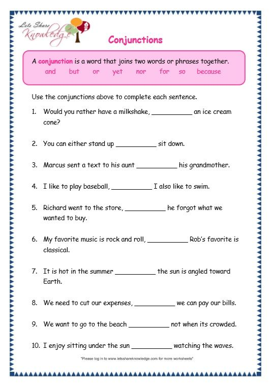 page 6 conjunctions worksheet exercises english grammar worksheets grammar worksheets. Black Bedroom Furniture Sets. Home Design Ideas