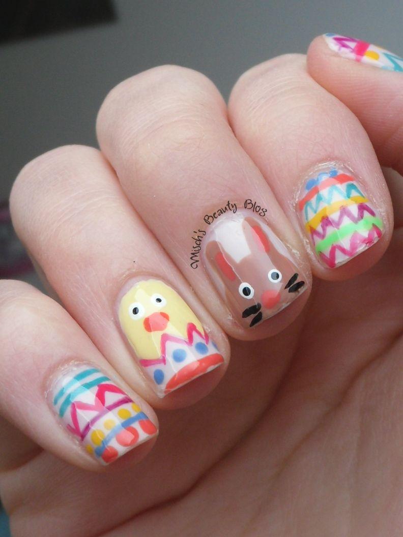 The Cutest Easter Nail Art  Fun stuff  Pinterest  Easter nail