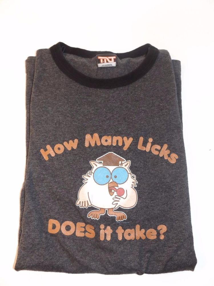 a6c2986979f TNT Tootsie Pop Mr Owl Men s 50 50 Cotton Blend T Shirt L