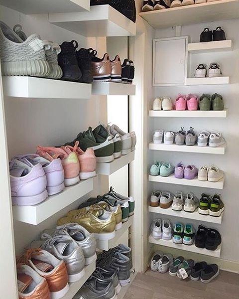 A Girls Sneaker Room Bedroom ideas Nike Girls Sneakers and Footwear