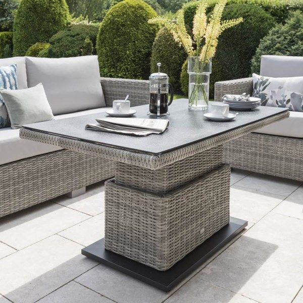 Patio Table Adjustable Height: Aya Outdoor Sofa Set With Adjustable Height Table