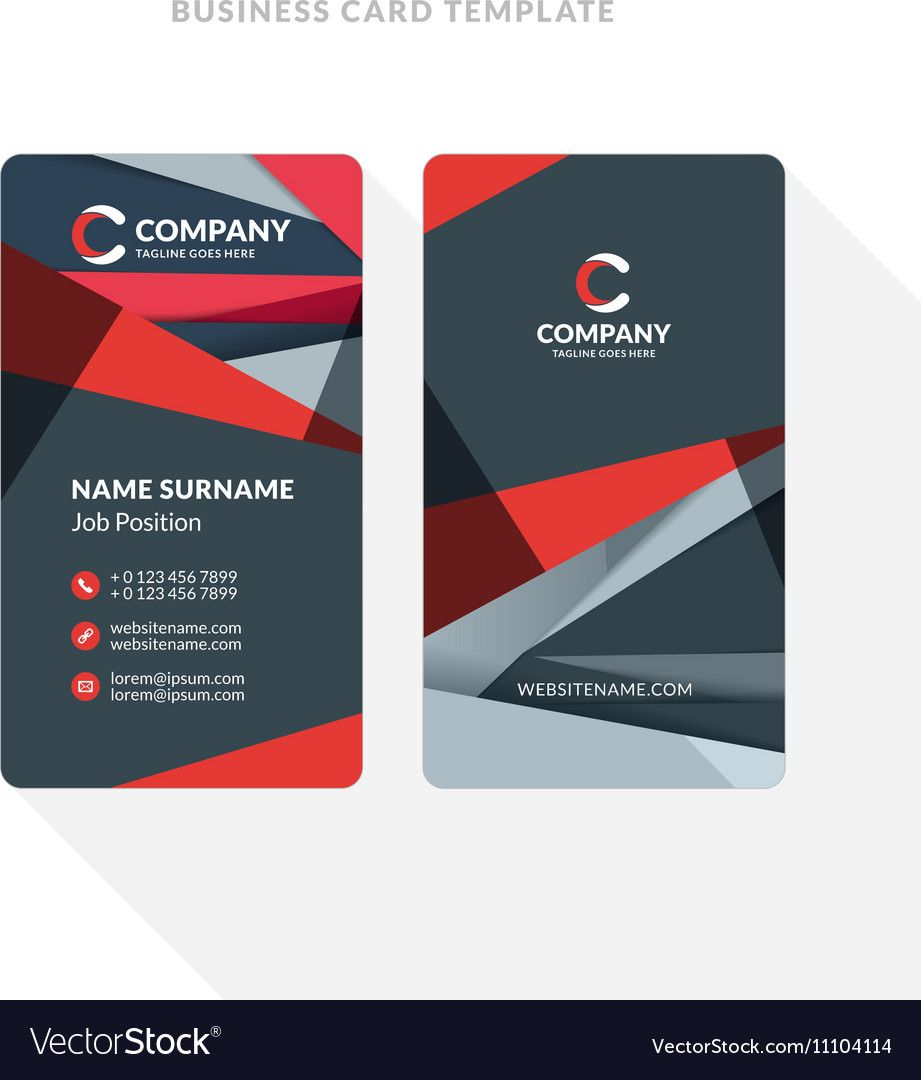 Vertical Double Sided Business Card Template With Pertaining To Double Sided Bus Business Card Template Word Double Sided Business Cards Business Card Template