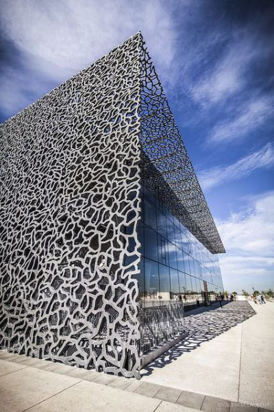 15 must see buildings with unique perforated architectural fa ades skins 1 mucem marseille. Black Bedroom Furniture Sets. Home Design Ideas