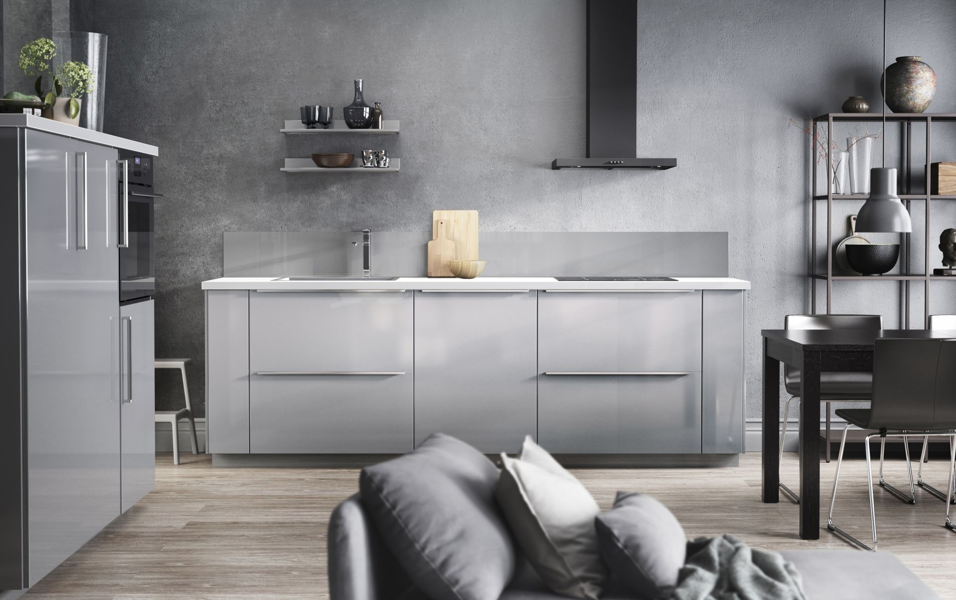 Keuken Interieur Scandinavisch : Metod keuken in elegant grijs ikea ikeanl keukens modern