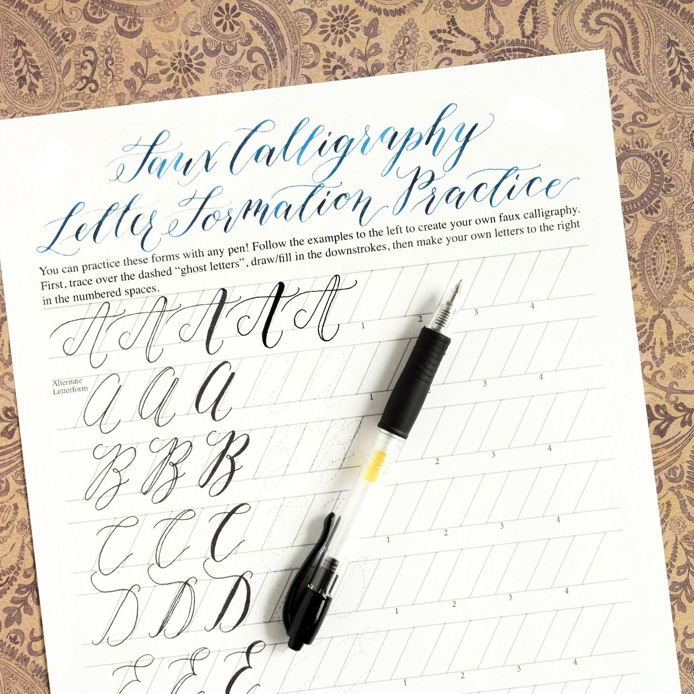 Worksheets Printable Calligraphy Worksheets premium calligraphy worksheet set kaitlin style worksheets i developed these in the to be more of a program