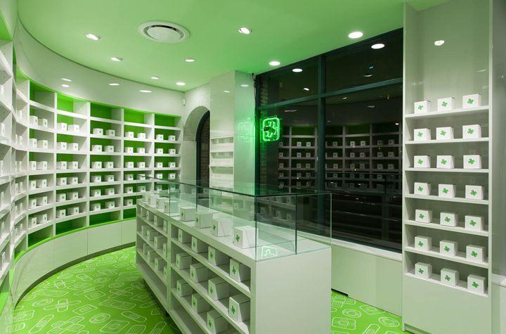 Careland pharmacy by Sergio Mannino Studio, New York City pharmacy office healthcare