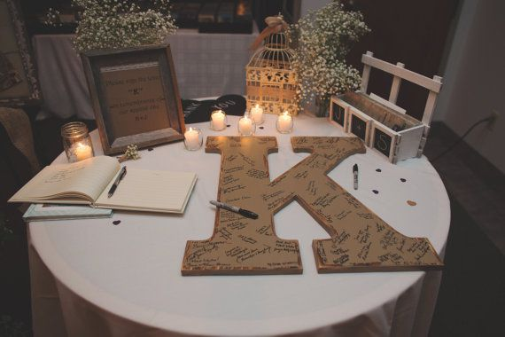 Rustic Wedding Guest Book Alternative Shabby Chic Wedding Decor 24