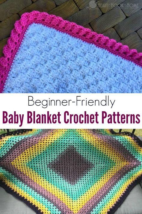 10 Beginner-Friendly Baby Blanket Crochet Patterns   Crochet Ideas ...