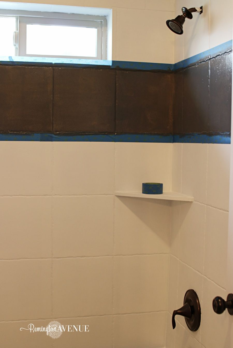 How To Paint Shower Tile Painting Shower Painting Bathroom