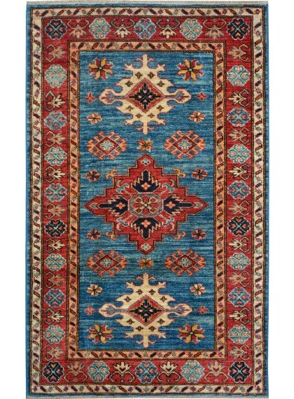 Blue Oriental Kazak Rug 2 11 X 4 10 Ft No 10473 Http Alrug Com Blue Oriental Kazak Rug 2 11 X 4 10 Ft No Rugs Antique Persian Carpet Rugs On Carpet
