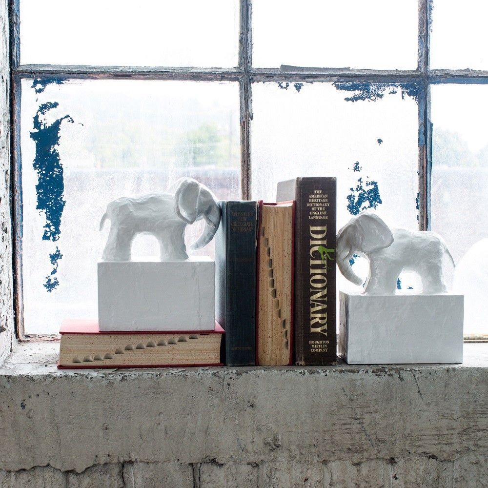 Stray Dog Designs Elephant Bookends | HOME ACCESSORIES | Pinterest ...