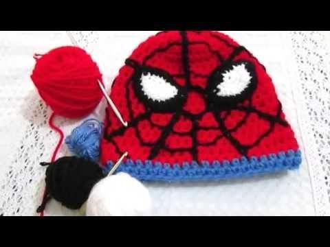 Como hacer un gorro de Spìderman en crochet.2º parte ., My Crafts ...
