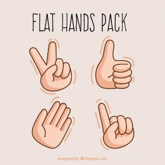 Flat hands illustration