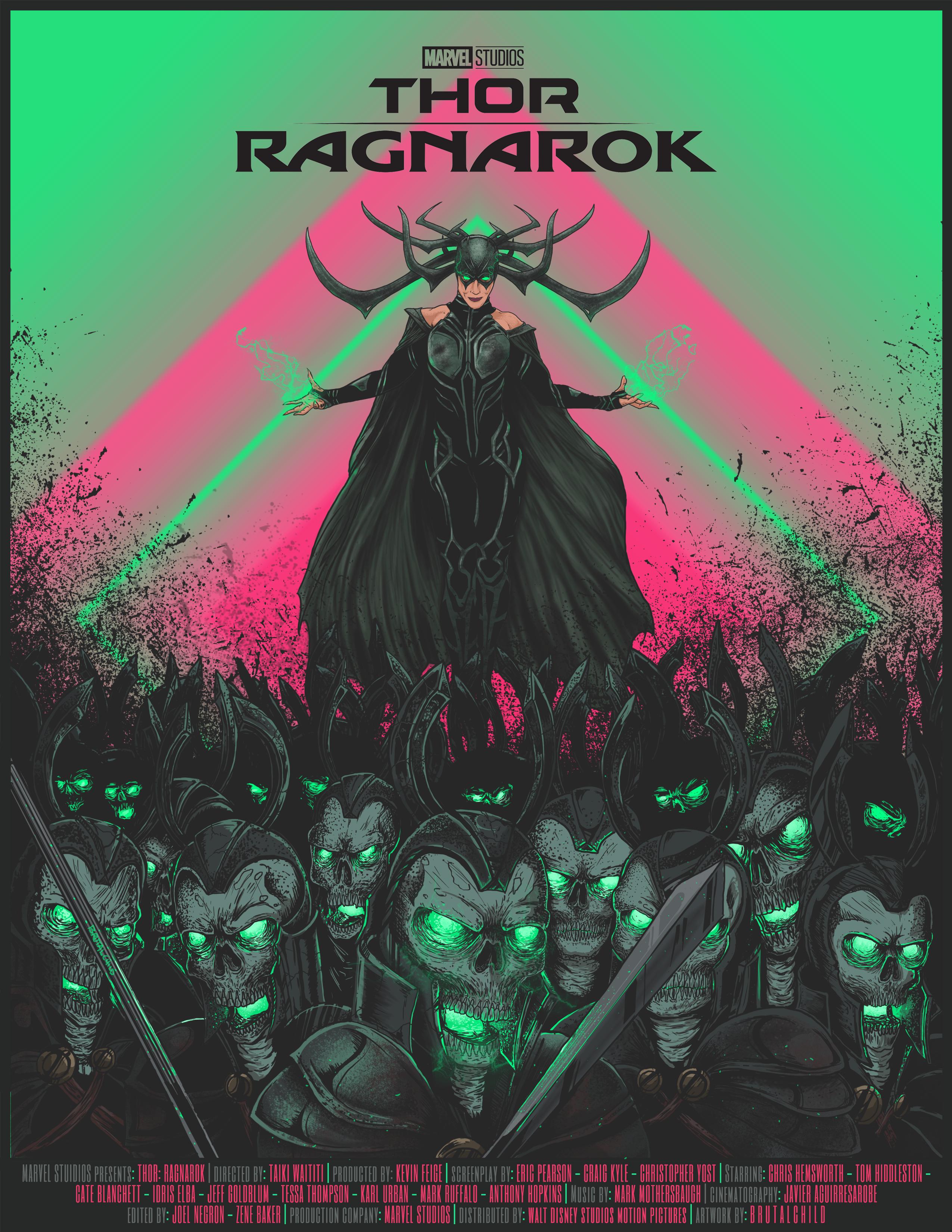 Thor Ragnarok 2017 Director Taika Waititi Productora Marvel Knights Marvel Studios Walt Disney Pictures Escritor Eric P Poster Best Movie Posters Thor