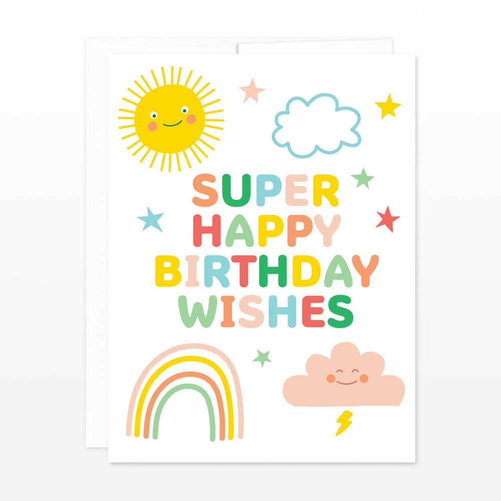 3/' Stock Design Giant Birthday Card with Envelope Slice of Rainbow Birthday