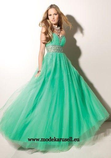 Grünes Empire Abendkleid Ballkleid Lang | günstige Abendkleider ...