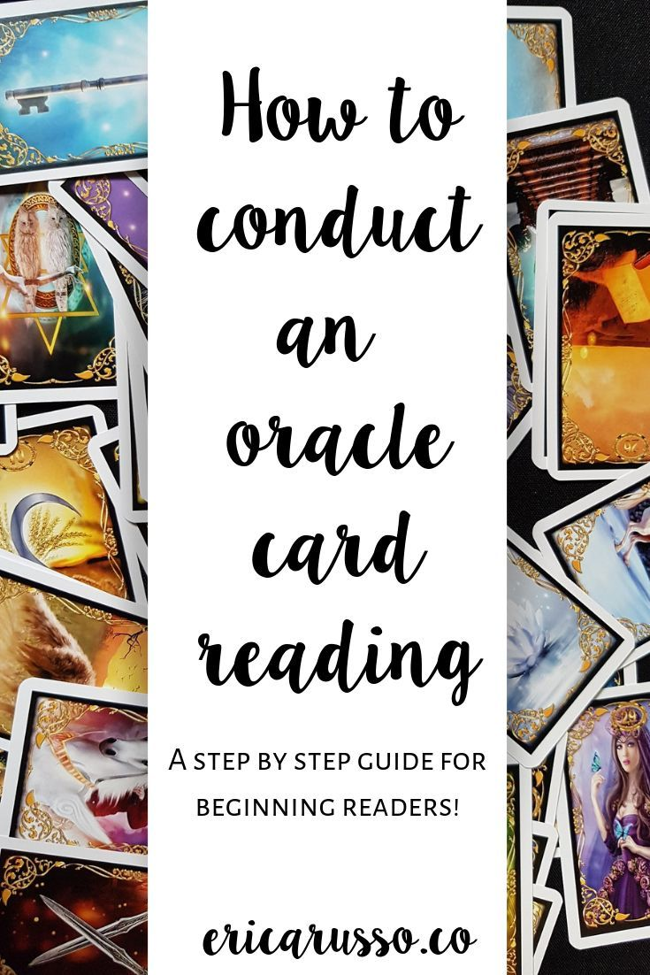 A step by step guide of how to conduct an oracle card