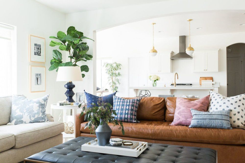 The Accessory You Need in Every Room Black coffee tables, Black - Brown Couch Living Room