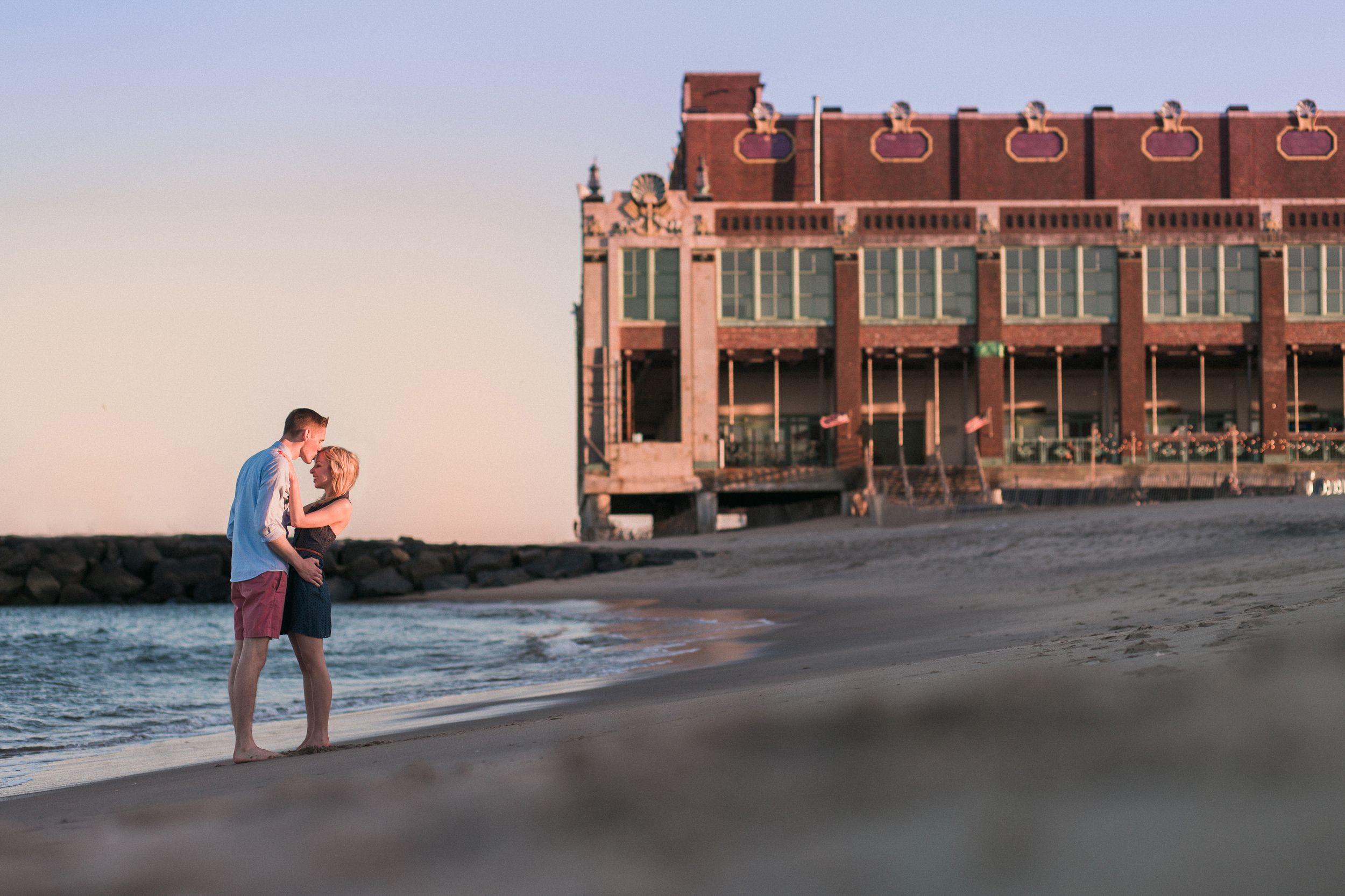 Asbury Park Beach at Sunset Engagement Photo