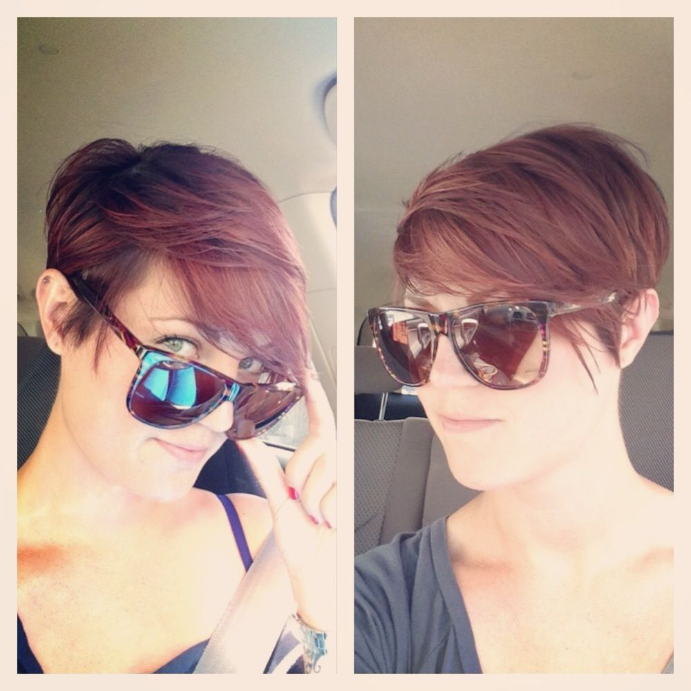 Pretty pixie cut love red hair haircut by caitlin c at the pretty