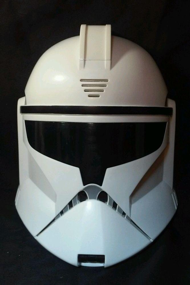 Star Wars electronic Talking CLONE TROOPER Halloween costume mask 2011 helmet