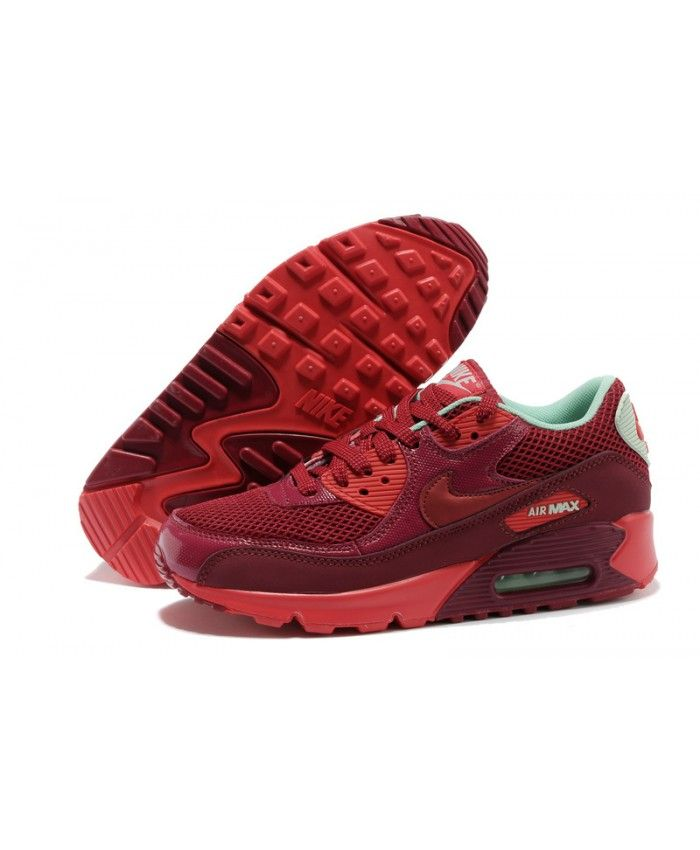 info for 05b41 03d73 Chaussure Nike Air Max 90 Bordeaux Rouge Vert