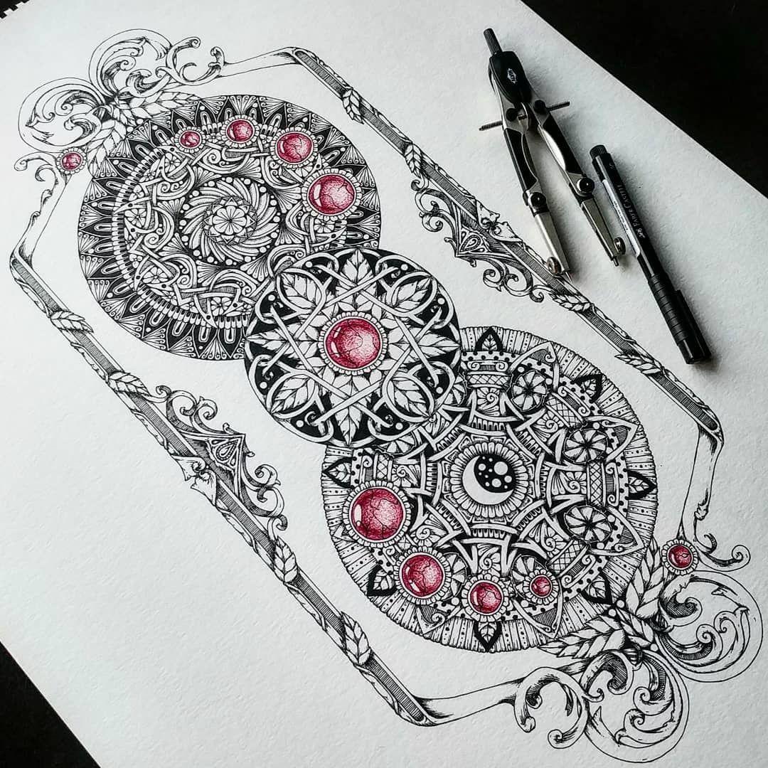 Symmetry Balance And Harmony In Mandala Drawings
