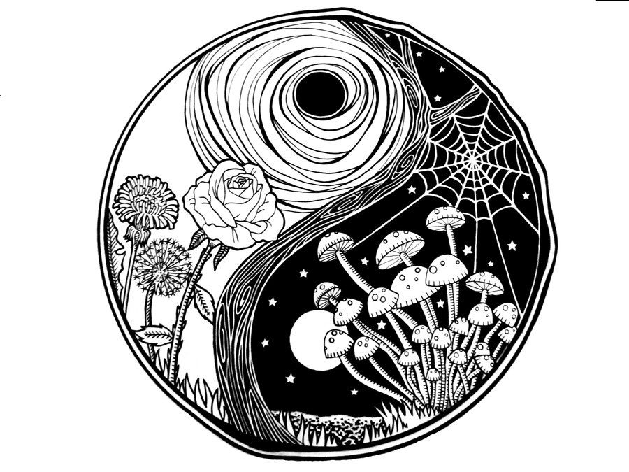 17 Best images about Yin Yang on Pinterest   Pisces, Koi and Koi ...