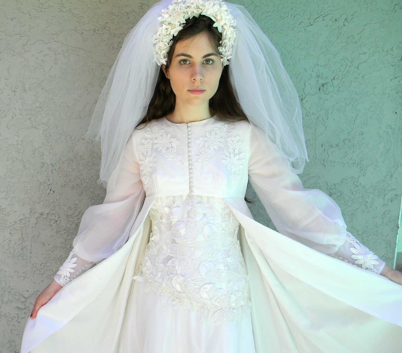 60s wedding dress sale vintage late 60s empire waist