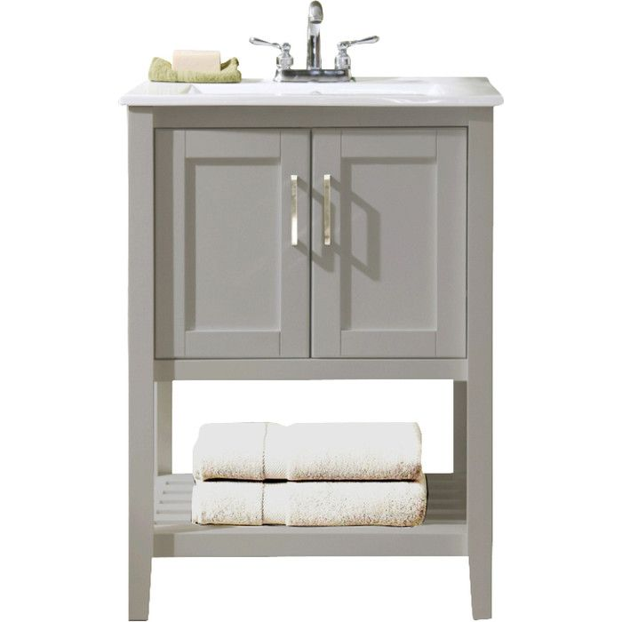 "Gina 24"" Single Bathroom Vanity & Reviews  Joss & Main  All Best Bathroom Cabinet Reviews Decorating Design"