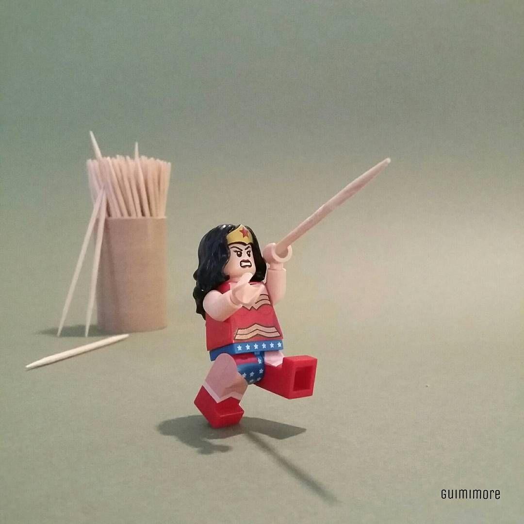 "DC OLYMPIC n°12 ""Athletics : Javelin Throw"" ""Athletisme : Javelot""  #rio2016 #JO2016 #olympic #Athletics #Javelin #Javelot #Throw #DCCOMICS #Wonderwoman #LEGO #minifigures #minifig #legography #toy #afol"