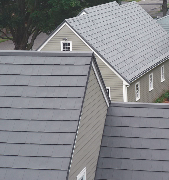 Oxford Shingle In Shake Gray Metal Roofing Systems Metal Roof Metal Shingles