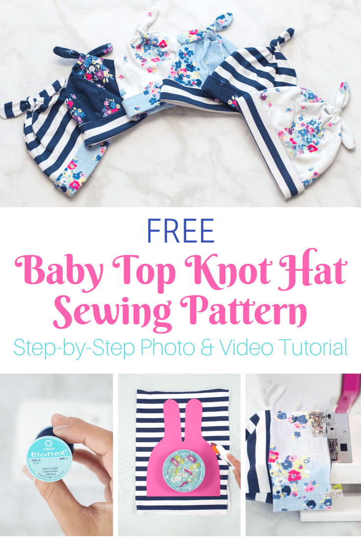 Double Top Knot Baby Hat Free Sewing Pattern | Sweet Red ...